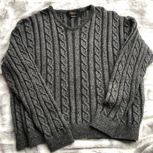 Vintage Bachrach Wool Cable Knit Grandpa Sweater